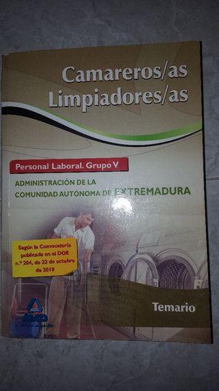 TEMARIO CAMARERO LIMPIADOR EXTREMADURA
