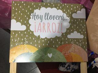 Cartel boda Arroz