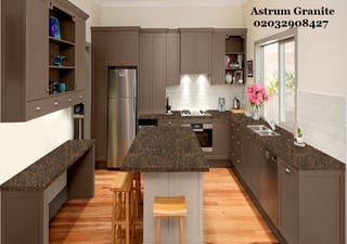 Baltic Brown Granite Kitchen Worktop at Reasonable