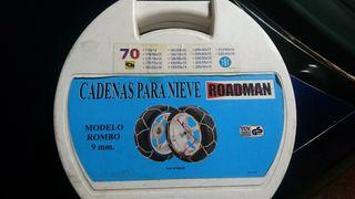 Cadenas Nieve , Rombo 9 mm (talla 70)