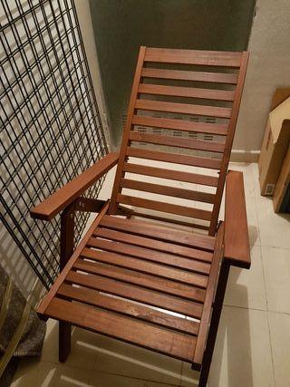 Silla reclinable madera