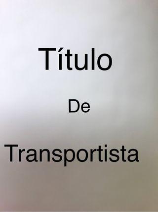 TITUlO TRANSPORTISTA