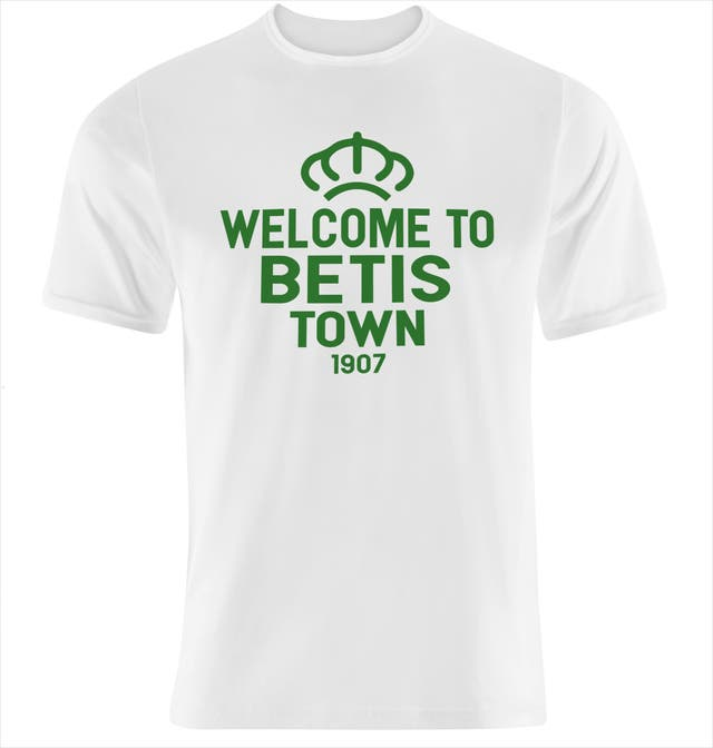 camiseta nueva WELCOME TO BETIS TOWN elige talla