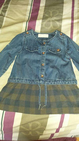 Vestido vaquero bebe talla 12-18 meses