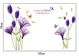 Vinilo decorativo lirios purpura