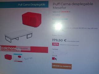 somier puff plegable