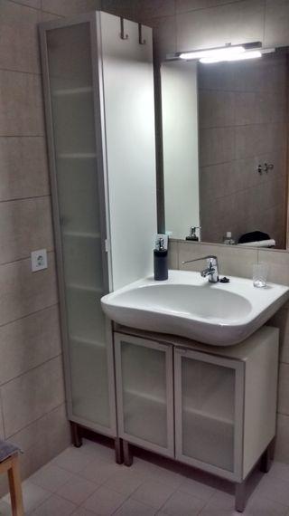 2 muebles de almacenaje para baño