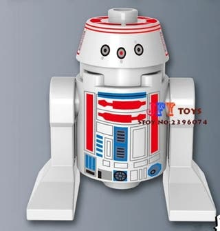 minifigura tipo lego Star Wars droide muñeco