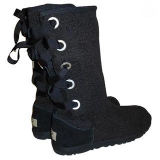 Bottes UGG® neuves lacée noires Tweed T.38