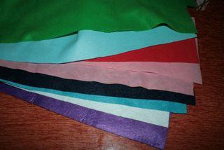 Lote de fieltro de colores