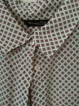 Camisa massimo 38 Seda mujer dutti T qawfSqr