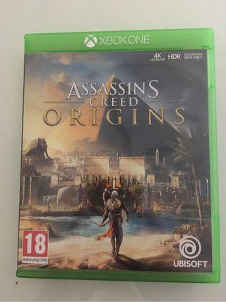 Juego xbox one Assassins creed origins