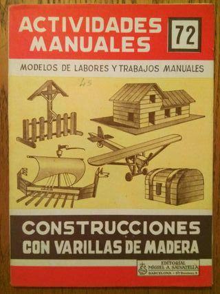 Actividades manuales,nº 72 - Varillas de madera