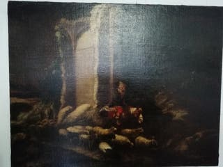 Cuadro lienzo pintura flamenca S.XVII