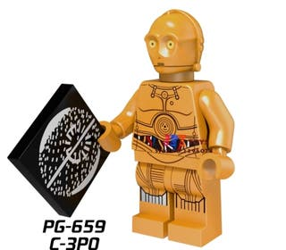 minifigura tipo lego Star Wars C3PO muñeco