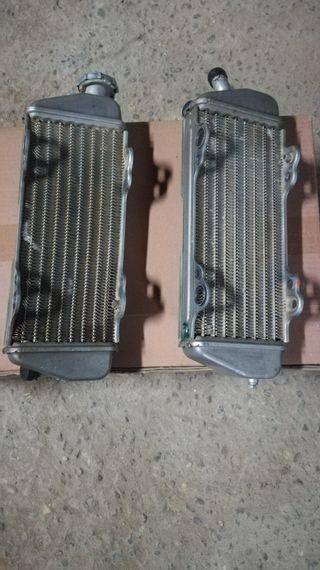radiadores y filtro ktm sx 250