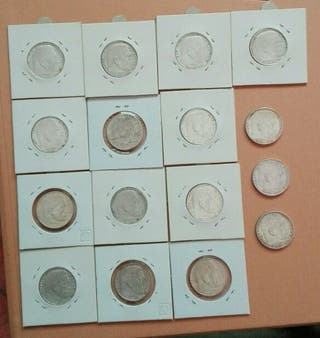 monedas 2 marcos plata esvástica nazi