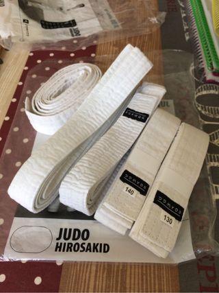 Cinturón blanco Judo, Karate, Taekwondo niño niña