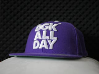 Gorra DGK FLEXFIT: BIG LOGO PURPLE/WHITE