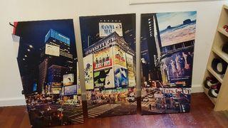Cuadro triple Times Square