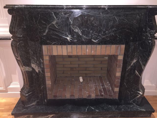 Chimenea de marmol de segunda mano por 600 en valladolid en wallapop - Chimeneas en valladolid ...
