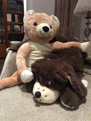 Peluches perro y oso