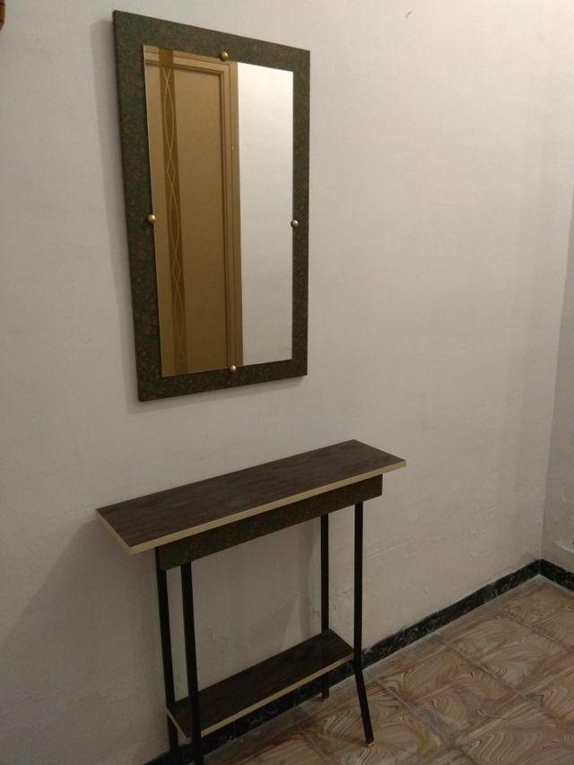 Mueble recibidor espejo antiguo 50 a os de segunda mano por 79 en elche en wallapop - Mueble anos 50 ...