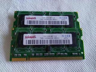 Modulos RAM 1Gb DDR2