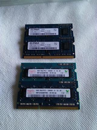 Modulos RAM 2Gb