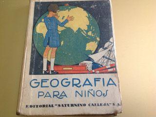 LIBRO ANTIGUO. GEOGRAFIA PARA NIÑOS. Año 1887.