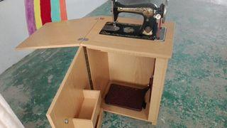 antigua máquina de coser Singer restaurada