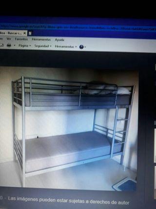 literas de con cama de 90cm
