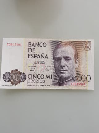 Billete 5.000 pesetas 1979