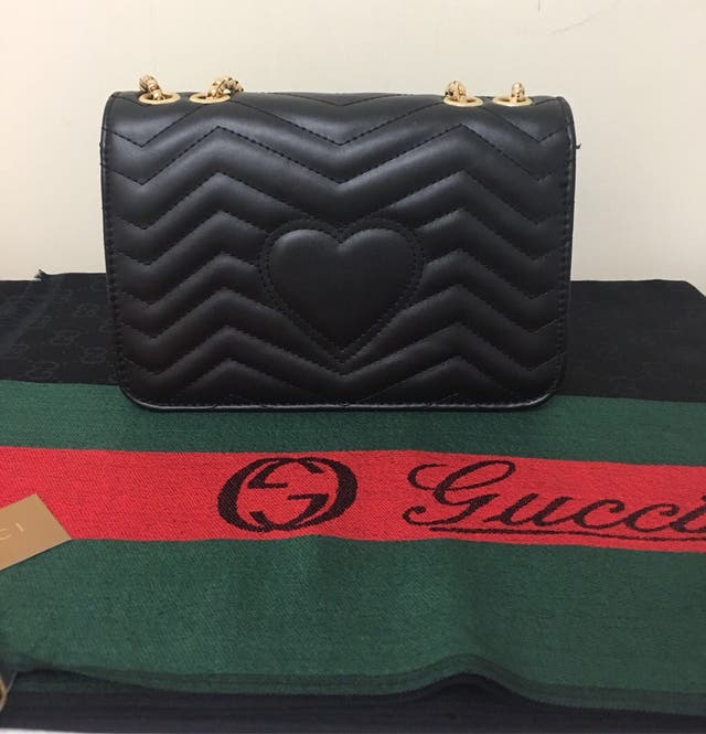 Gucci bag and scarf set