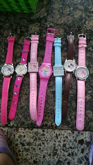 lote de relojes de la hallo kitty