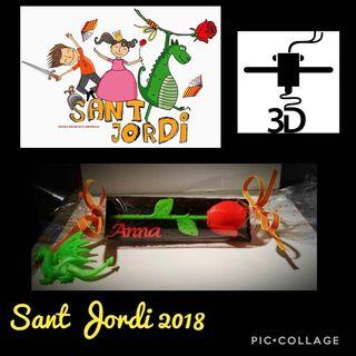 Rosa Sant Jordi 3D personalizada