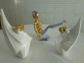3 figuritas de loza