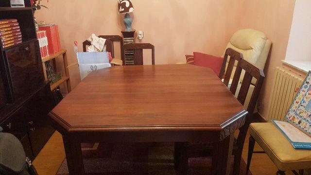 Mesa comedor de madera antigua con 4 sillas. de segunda mano por 250 ...