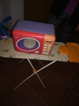 tabla de planchar o microondas