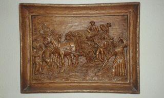 cuadro tallado madera