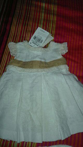 vestido bautizo niña marca tizzas sin estrenar