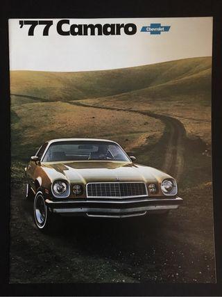 Catalogo Chevrolet Camaro 1977
