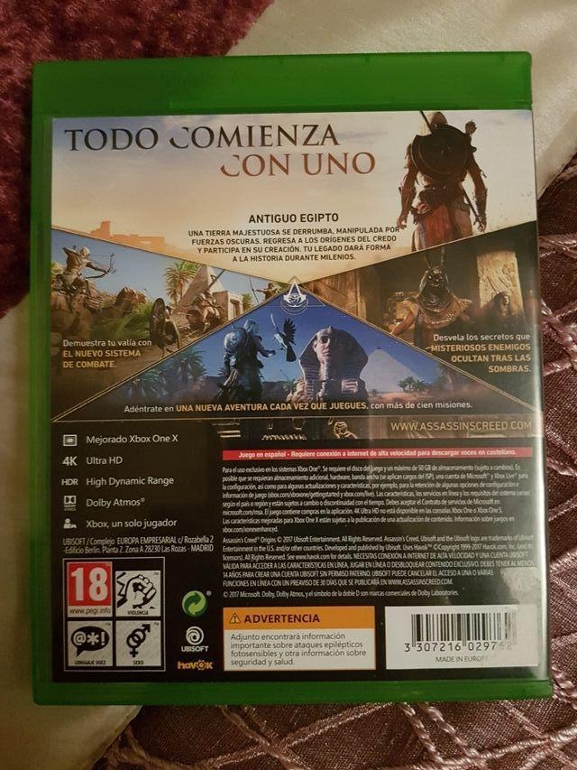 Assasins Creed Origins como Nuevo !!! XBox One