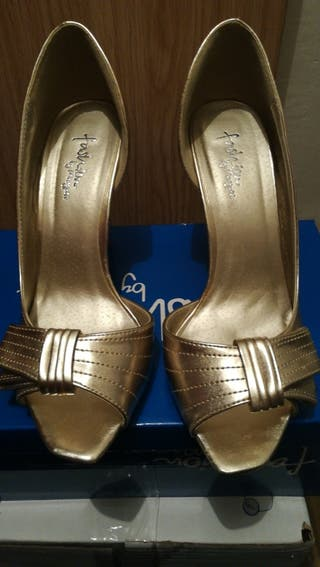 Zapatos Fiesta Mujer Dorado