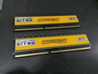 memoria ram crucial ballistix ddr3, 2x4gb
