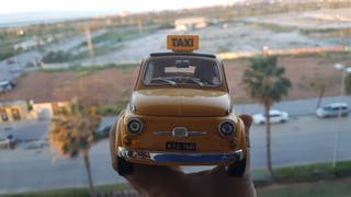 playmobil en taxi nueva york marca Burago