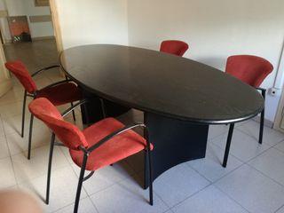 lote despacho: 2 Mesas +4 sillas +cuadro+2cenicero