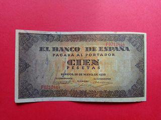 Billete 100 pesetas 1938. Burgos
