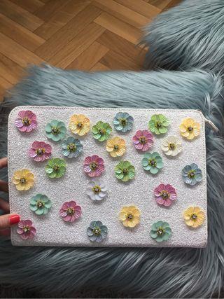 Bolso con flores de fiesta mano Asos A86PqY8r