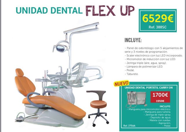 Sillón clínica dental